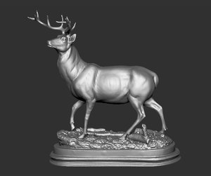 deer sculpture 3D