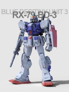 gundam blue destiny 3D model