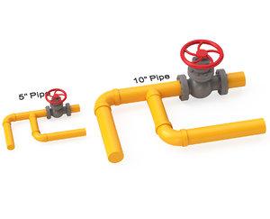 valve gas pipe 3D model