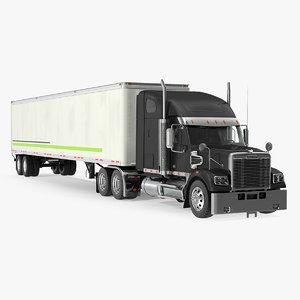 3D freightliner 122sd trailer freight