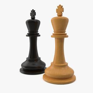 3D chessmen king model