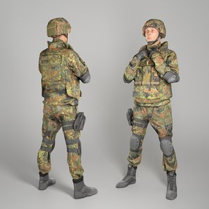 3D equipped soldier