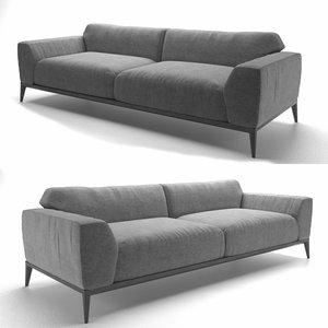 loft desing alfred sofa 3D model
