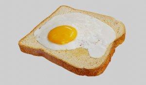 egg toast 3D