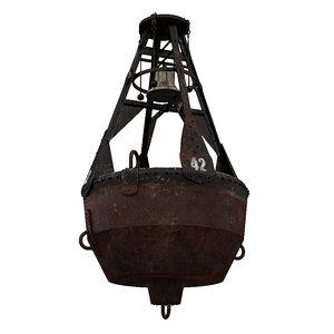 3D bell buoy early 1900 model