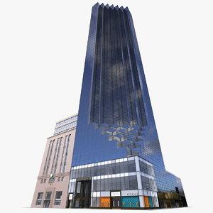 trump tower skyscraper 3D model