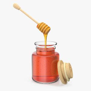honey bottle drizzler witrh 3D