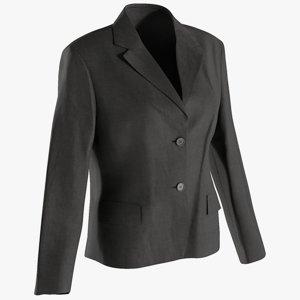 3D realistic women s blazer