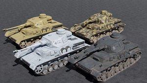 3D model panzer iv german ww2