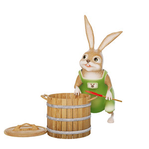 3D sculpture rabbit