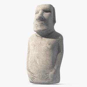 3D easter island statue moai