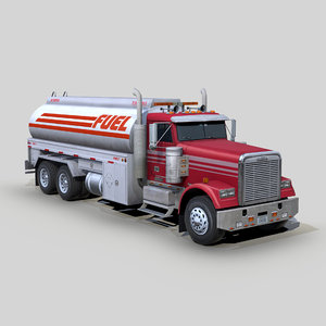 freightliner fld 120 fuel truck 3D model