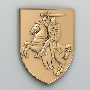 coat arms 3D model
