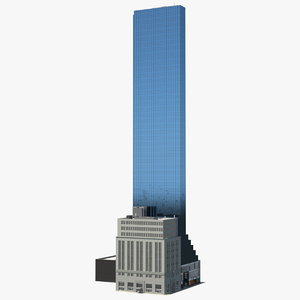 3D model skyscraper tall urban