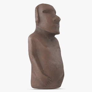 easter island statue moai 3D model