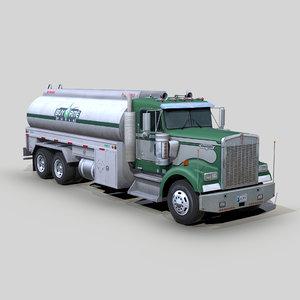 w900 fuel truck 3D