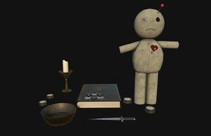 3D ritual objects model