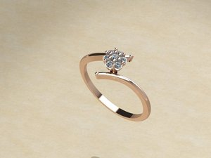 ring bracelet gemstone 3D model