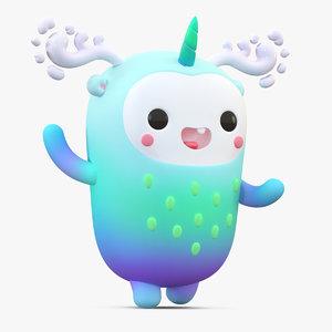 3D model cute cartoon monster