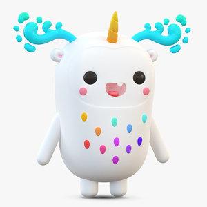 3D cute cartoon monster model