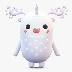 3D cute cartoon monster