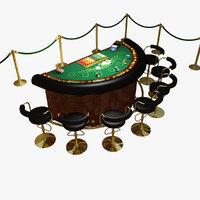 Casino Blackjack Table