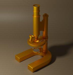 3D antique microscope