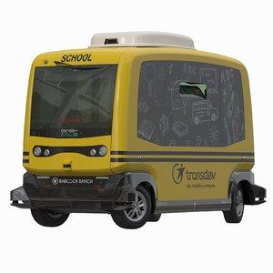 3D driveless easy mile city bus