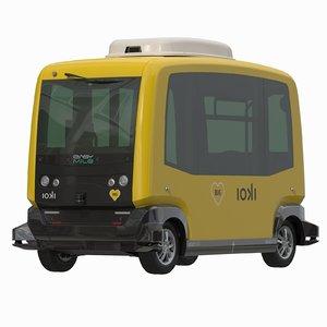 driveless easy mile city bus 3D
