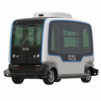 EazyMile Driverless Bus White Rigged