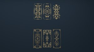 cartouche corbel decor 3D model