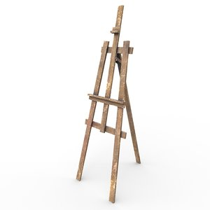 3D easel stand - pbr