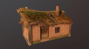 thatched cottage 3D model