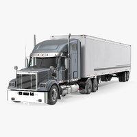 Heavy Duty Long Hood Truck with Semi Trailer