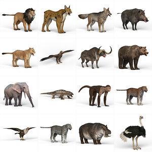 3D wild animal model
