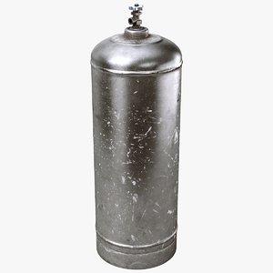gas cylinder metallic 3D model