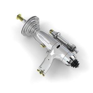 3D retro raygun model