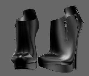 3D shoeshighheelboot