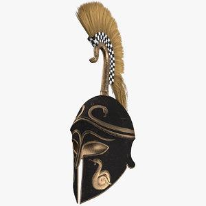 bronze corinthian helmet 3D model