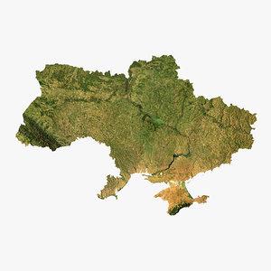 relief ukraine 3D