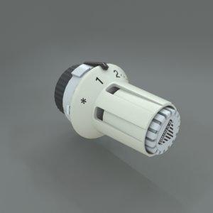 3D model radiator thermostat