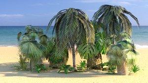 3D trees plants