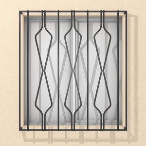 window iron model