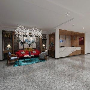 3D scene hotel floor model