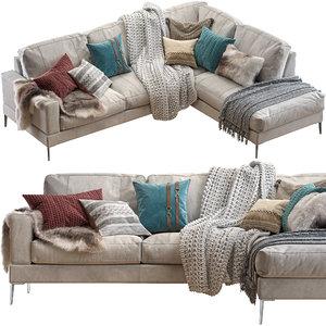 3D pohjanmaan capri sectional sofa model