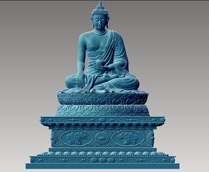 sitting buddha 3D