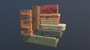 boxes animation open 3D model