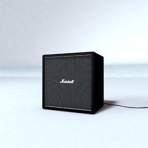 marshall black amp 3D model