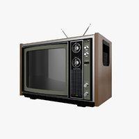 Old Retro TV - Cinema4D Octane Render PBR