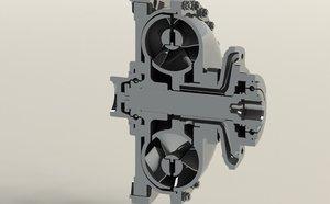 3D transmission torque converter model
